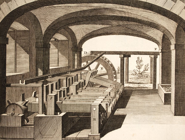 Figure 6. Diderot Encyclopédie stampers showing perspective view